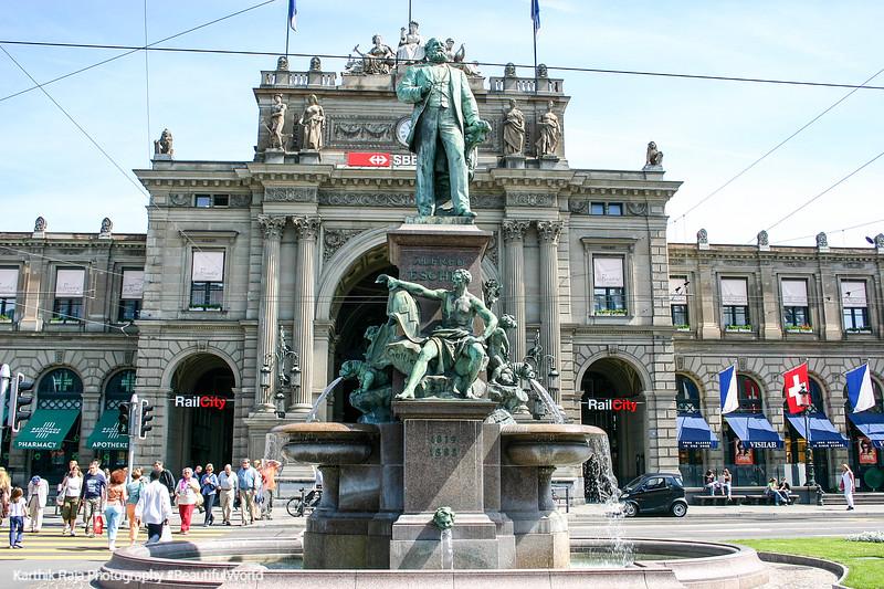 Hans Escher at Bahnhofplatz, Zurich, Switzerland