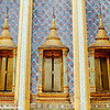 Window, Wat Phra Kaew Temple Spire, Grand Palace, Bangkok, Thailand
