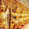 Garudas, External decorations of the Ubosoth, the main building of Wat Phra Kaew, Grand Palace, Bangkok, Thailand
