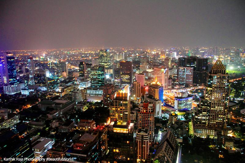 Lumpini Park, Chao Phrayo River, View of Bangkok skyline, Banyan Tree Hotel, Bangkok, Thailand
