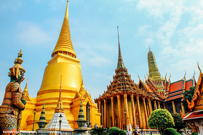 Wat Phra Kaew Temple of the Emerald Buddha, Grand Palace, Bangkok, Thailand