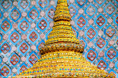 Wat Phra Kaew Temple Spire, Grand Palace, Bangkok, Thailand