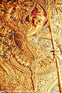 Golden Dancer, Wat Phra Kaew, Grand Palace, Bangkok, Thailand
