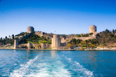 Bosphorus, Rumeli fortress, Istanbul, Turkey