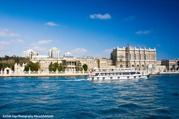 Bosphorus, Dolmabahce palace, Istanbul, Turkey