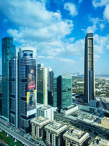 index Tower and Hotels on Sheikh Zayed Rd, Dubai, United Arab Emirates