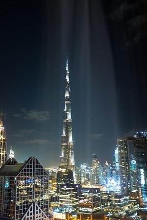 Shine the light on the Burj Khalifa, Dubai, United Arab Emirates