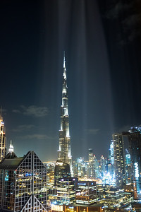 Shine the light on the Burj Khalifa, Dubai, United Arab Emirates