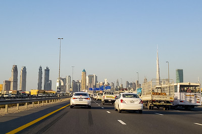 Driving to Dubai, United Arab Emirates