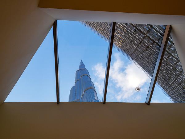 Burj Khalifa from the Mall, Dubai, United Arab Emirates