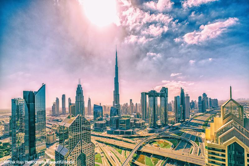 Burj Khalifa, Dubai, United Arab Emirates - an artistic version