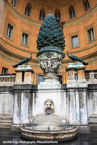 Pineapple Courtyard inside the Vatican, Vatican City