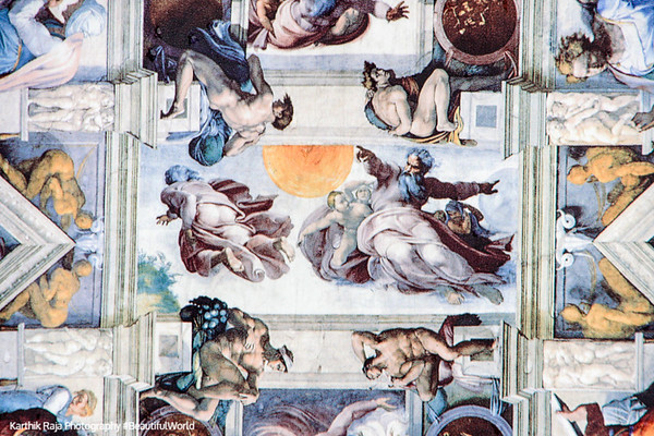 Sistine Chapel - Creation of Adam by Michelangelo, Vatican City