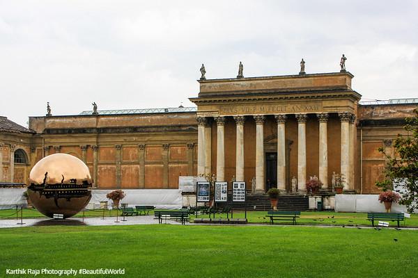 'Sfera Con Sfera' (Sphere Within Sphere) by Italian artist Arnaldo Pomodoro, Vatican City
