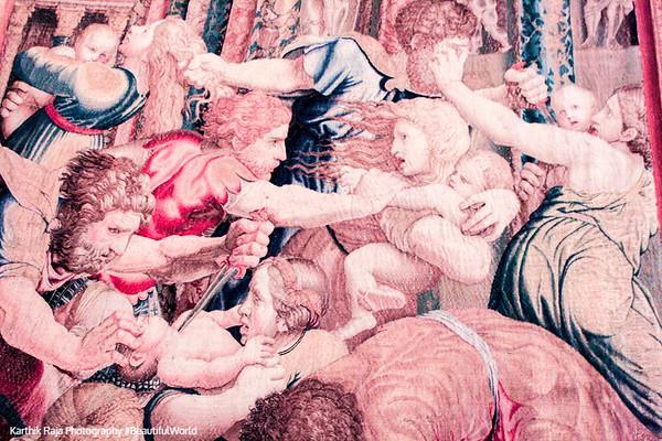 Vatican Museum - Flemish tapestries, realized in Brussels by Pieter van Aelst's School, Vatican City