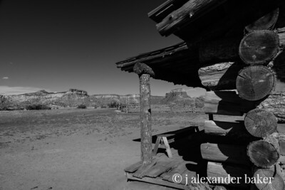 """Log Cabin built for the movie """"City Slickers"""" at the Ghost Ranch in Abiquiu NM"""
