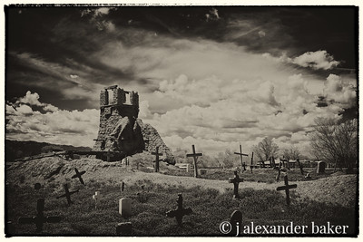 Ruined Church and graveyard, Taos Pueblo