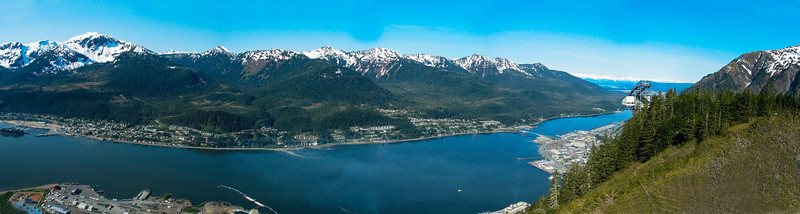 Juneau from the top of the cable car