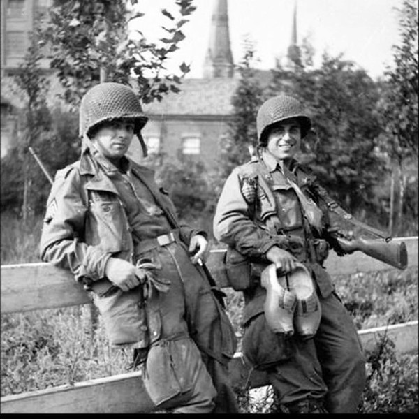 2 Men of Easy Company in Eindhoven 1944, The man on the right is Tech. 4th Grade Frank Perconte #ww2 #wwii