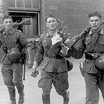 3 German soldiers returning from a fight in 1941, pretty interesting photo. <br /> #ww2 #wwii #german #wehrmacht