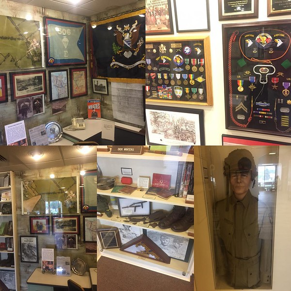 Not too long ago I got to visit Richard Winters' office display, all of his original stuff. It was a great thing to see! #ww2 #wwii