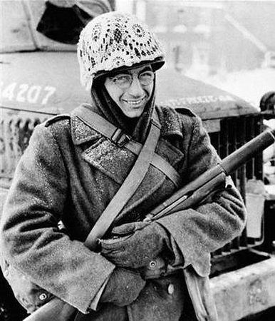 During the Battle of the Bulge, December 1944 - January 1945, many allied soldiers would decorated their helmets with lace curtains, after they started to realize it provided excellent camouflage in the snow. #battleofthebulge #ww2history #WW2 #WWII