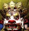 Closeup of a Tsam dance mask.