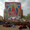 Large Buddha thanka at the Inaugural Ceremonies for the Golden Temple. © Palyul.Ling