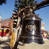 Bell at Palyul Namdroling, Bylakuppe, S. India - by Mannie Garcia