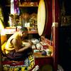 Practice at Palyul Namdroling - by Mannie Garcia