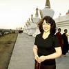 Jetsunma Ahkon Lhamo at Stupas - by Mannie Garcia