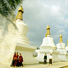 Stupas at Palyul Namdroling - by Mannie Garcia