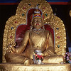 Guru Rinpoche statue in old temple at Palyul Namdroling - by Mannie Garcia