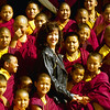 Jetsunma Ahkon Lhamo with Palyul Namdroling nuns - by Mannie Garcia