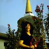 Jetsunma at Migyur Dorje Stupa at Palyul Namdroling, S. India - by Mannie Garcia