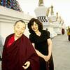 Ven. Gyatrul Rinpoche and Jetsunma Ahkon Lhamo at Stupas - by Mannie Garcia