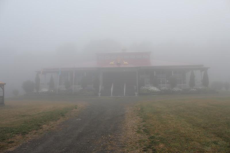 Saturday morning fog