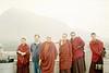 Tulku Rigdzin Pema a renowned Stupa builders with Khenpo Tashi Tsering in Hong Kong. <br /> © Nawang Paljor
