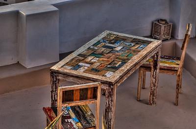 Artisan table, Santorini