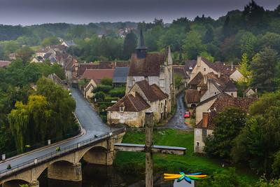 Village scene in the mist, FR