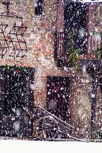Winter scene in France