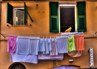 Laundry in Riomaggiore