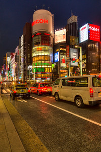 Ginza corner at night