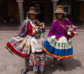 Cusco natives in costume