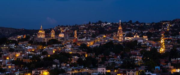 San Miguel de Allende panorama at dusk, #1