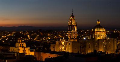 San Miguel de Allende panorama at dusk, #3