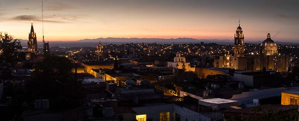San Miguel de Allende panorama at dusk, #2