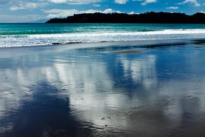 Auckland beach reflection