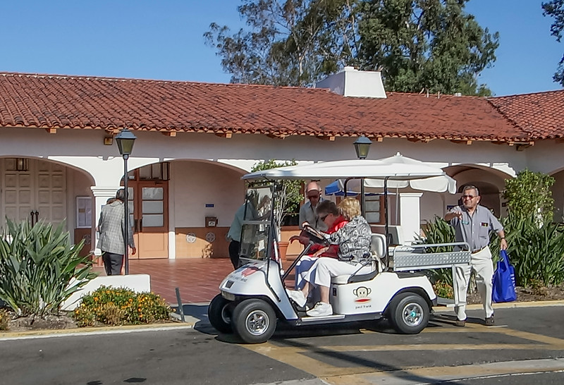Saddleback Church Laguna Woods; Laguna Woods; TEM, Greeters with Golf Carts