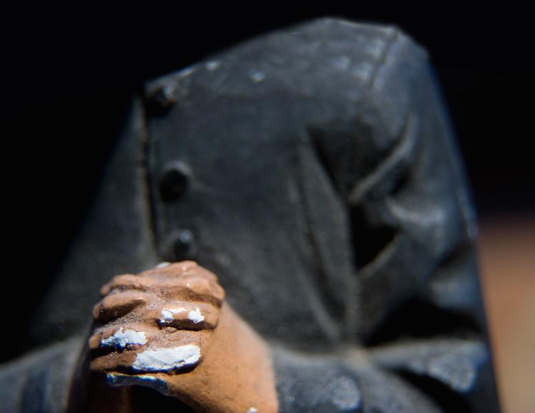 Priest Statue Praying Hands